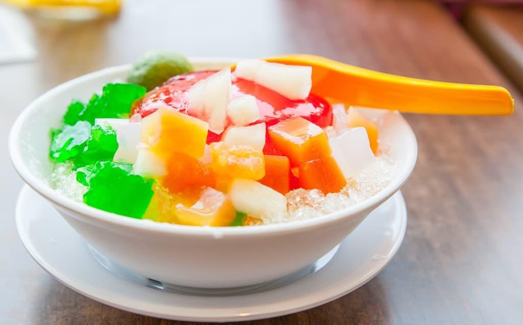 夏天剉冰果凍冰品彩色椰果
